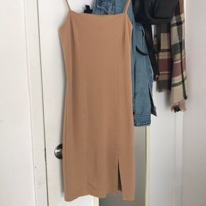 Nude bodycon dress from Forever 21